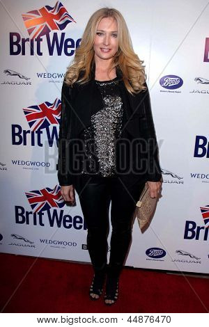LOS ANGELES - APR 23:  Amber Kelleher-Andrews arrives at the 7th Annual BritWeek Festival