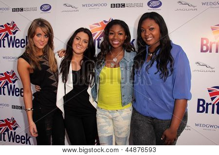 LOS ANGELES - APR 23:  Kree Harrison, Angie Miller, Amber Holcomb, Candice Glover arrives at the 7th  BritWeek Festival at the British Consul General's Residence on April 23, 2013 in Los Angeles, CA