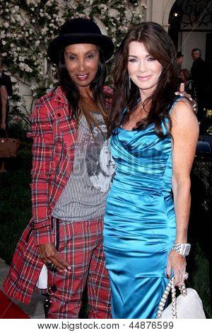 LOS ANGELES - APR 23:  Downtown Julie Brown, Lisa Vanderpump arrives at the BritWeek Festival