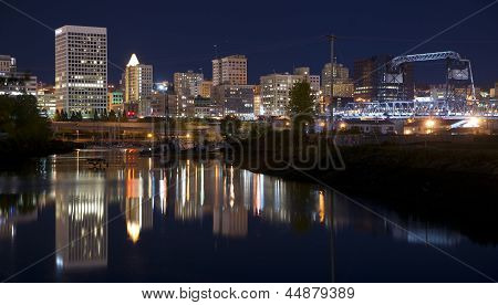Thea Foss Waterway And Marina Fronts Tacoma Washington Northwest Usa