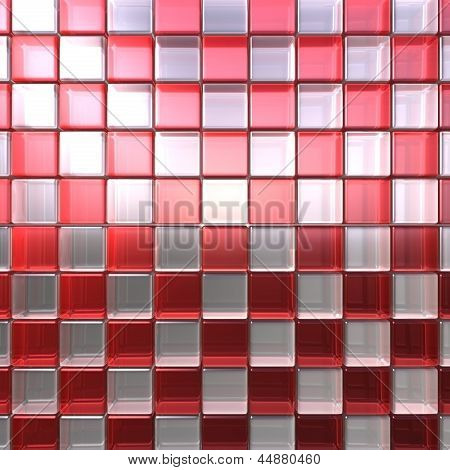 Red and white cubes