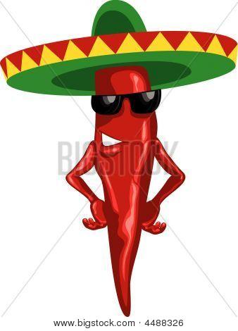 Hot Mexican Chili Green Sombrero.