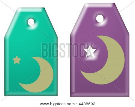 Moon And Stars Gift Tags