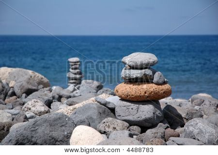 Stone Stacked As Tower