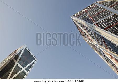 Madrid City  Skyscrapers. Spain