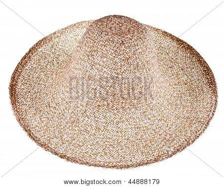 Simple Summer Straw Broad-brim Hat