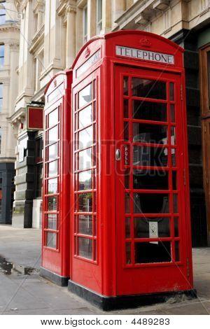 Red London Public Telephone Box