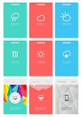 UI is a set of beautiful components featuring the flat design trend EPS10. poster