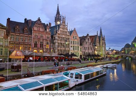 Buildings With Tourboats, Ghent