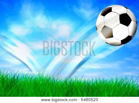 Flying Soccers Ball
