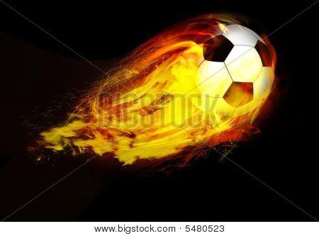 Soccers Ball Through Flames