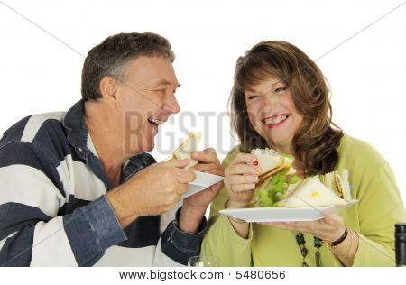 Couple Enjoying Lunch