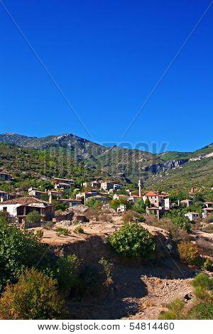Old Abandoned Greek,turkish Village Of Doganbey, Turkey