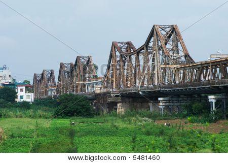The Long Bien Bridge In Hanoi