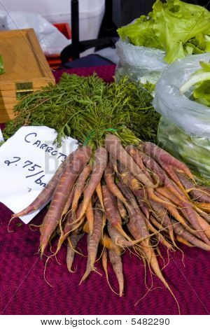 Gourmet Carrots With Tops For Sale