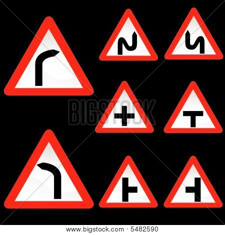 acht Dreieck profilstahl rot weiß Verkehrszeichen-set 1