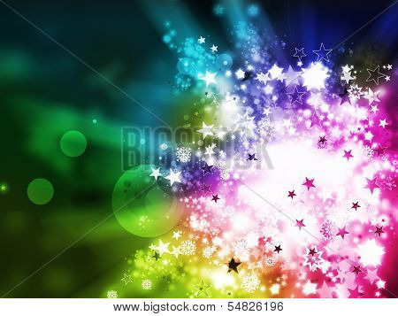 Colorful Xmas Abstract Background