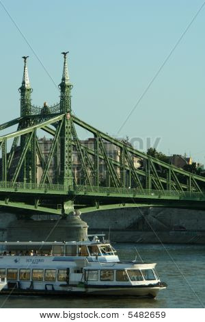 Liberty Bridge Budapest Hungary Central Europe Summer 2009 poster