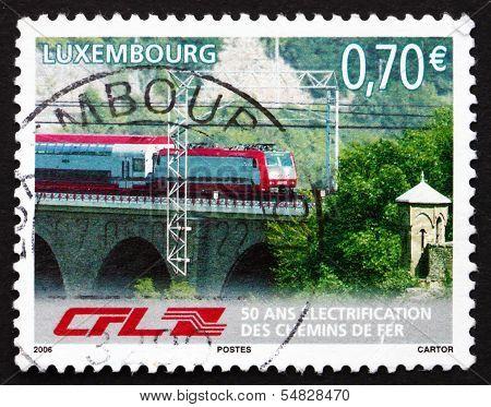 Postage Stamp Luxembourg 2006 Train On Bridge