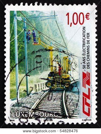 Postage Stamp Luxembourg 2006 Workers Repairing Electrical Wires