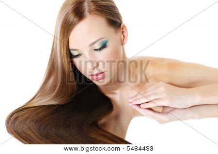 Girl With Healthy Long Hair