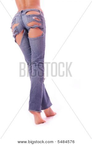 Sexual Feet In Jeans