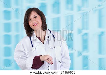 Sympathetic Healthcare Employee Looking At You Genuinely