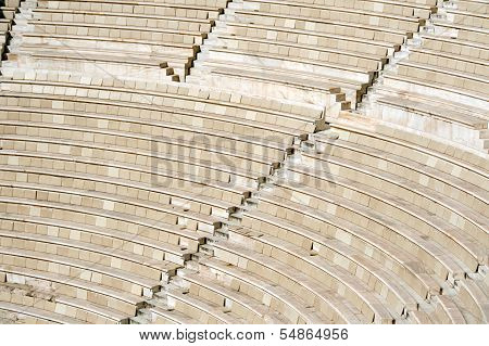 Ancient Theater At The Acropolis In Athens