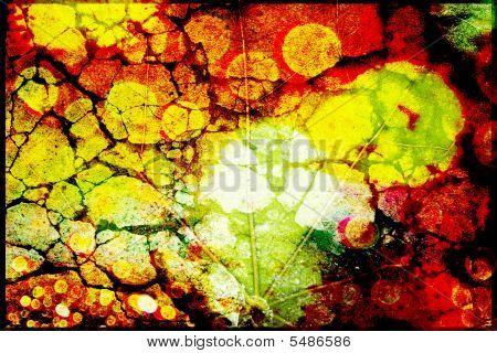 Grungy Leaf Textured Background