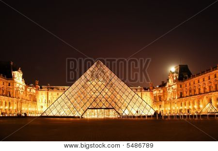 The Louvre And The Pyramide