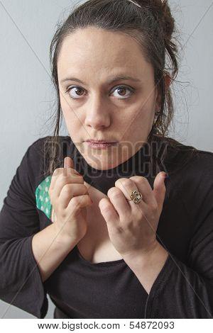 Nervous Woman