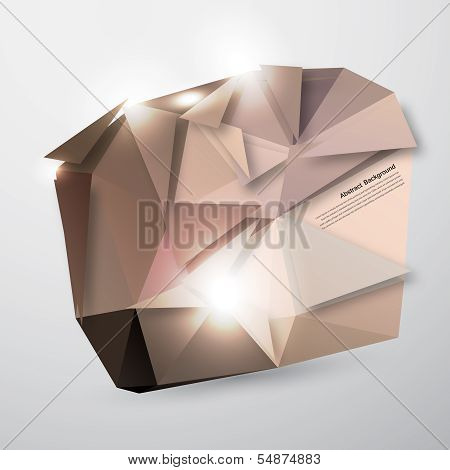 Vector abstract background. Polygonal pattern and object poster