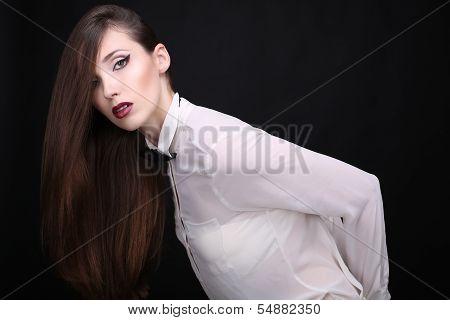 beautiful businesslike girl