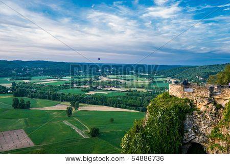 panoramic view from dome over the dordogne river dordogne perigord France