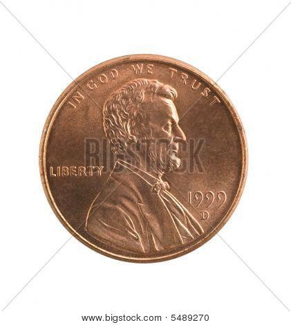 Penny isolado, o traçado de recorte.