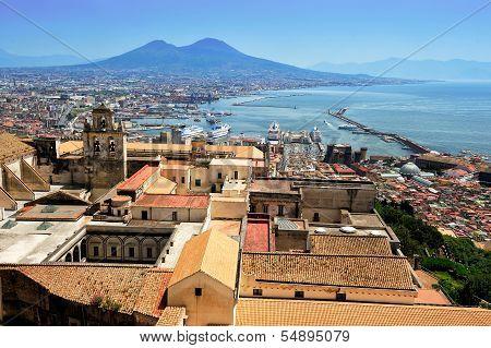 Naples And Vesuvius, Italy