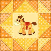 Application horse seamless. Cildren vector background. This is file of EPS8 format. poster