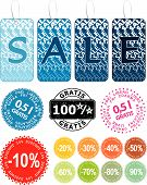 Set of colorful vector sale stickers stamp and labels poster