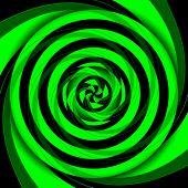 vertigo green geometric. poster