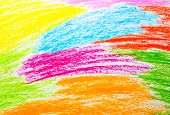 Abstract wax crayon hand drawing background pink blue poster