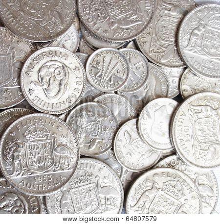 Lot of Australian Predecimal Silver Coins