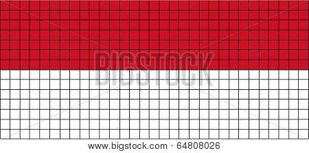 Vector Flag of Vietnam in 8bit style.