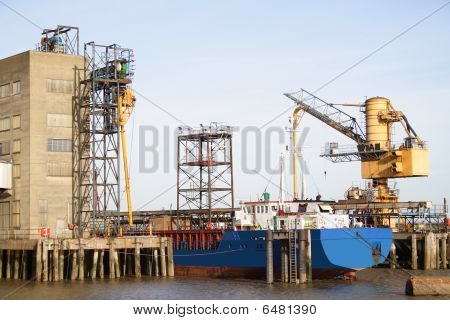 Docked Container Ship