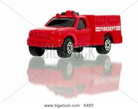Little Toy Fire Truck Front