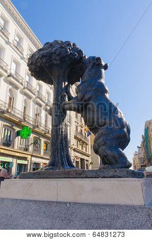 Bear And Madrono Tree