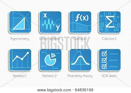 Set of math icons
