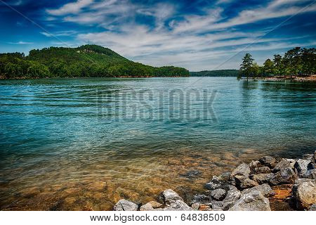 Lake Allatoona At Red Top Mountain State Park North Of Atlanta