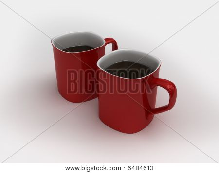 High-res Isolated Two Coffee Cups
