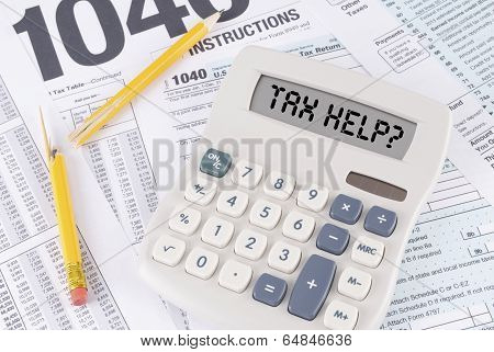 Tax Forms And Broken Pencil and Calculator