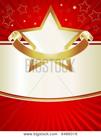 Red & Gold Stars